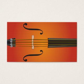 Violoncelo, violín, diseño de la tarjeta de visita