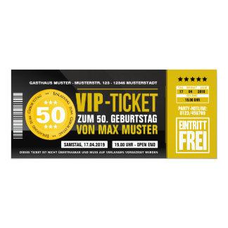VIP-TICKET tarjetas de invitación (ocker-orange