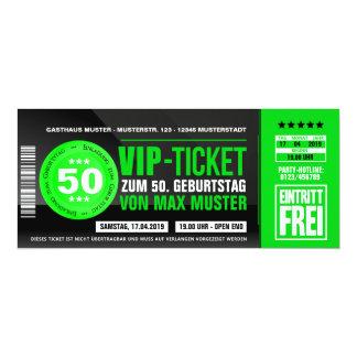 VIP-TICKET tarjetas de invitación (verde)