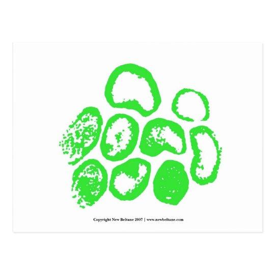 Viral [adorno verde medio] postal