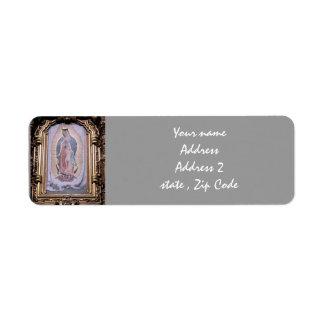 Virgen de Guadalupe Etiqueta De Remitente