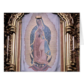 Virgen de Guadalupe Tarjeta De Felicitación Grande