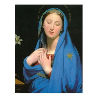 Virgen de Jean Dominique Ingres- de la adopción Postal