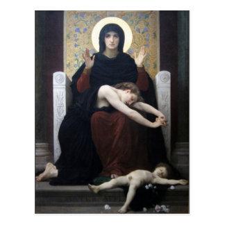 Virgen de la consolación por Bouguereau Postal