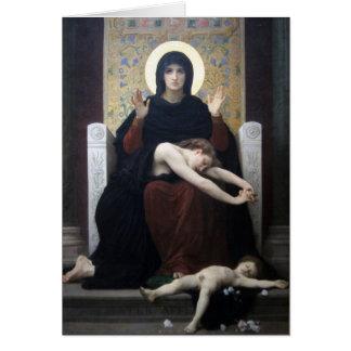 Virgen de la consolación por Bouguereau Tarjeta De Felicitación