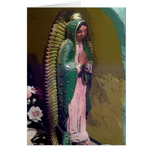 Virgen de la tarjeta de felicitación de Guadalupe
