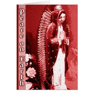 Virgen de la tarjeta de Navidad de Guadalupe