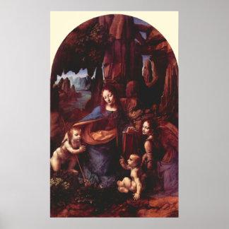 Virgen de las rocas de Leonardo da Vinci