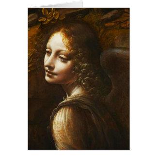 Virgen de Leonardo da Vinci del ángel de las rocas Tarjeta Pequeña