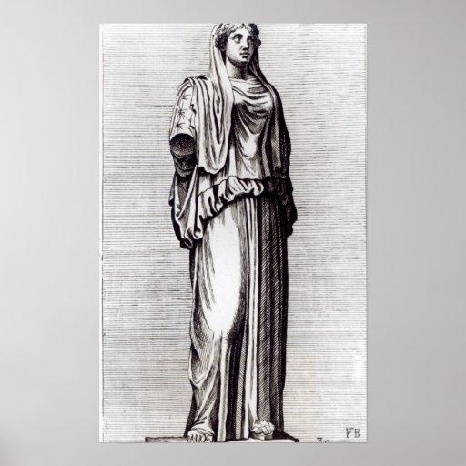 Virgen de vestal, c.1653 posters