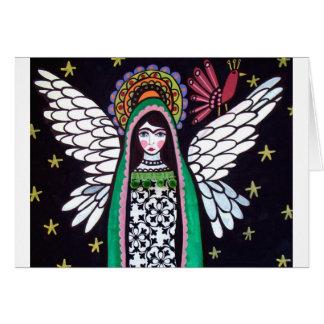 Virgen del ángel del arte de Guadalupe por el brez Tarjeta De Felicitación