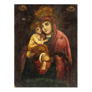 Virgen del icono del ucraniano de Pochayiv Postal