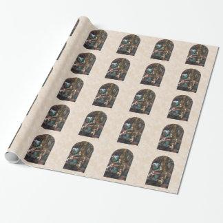 Virgen del papel de embalaje del navidad de las