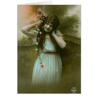 Virgen del Victorian Tarjeta De Felicitación