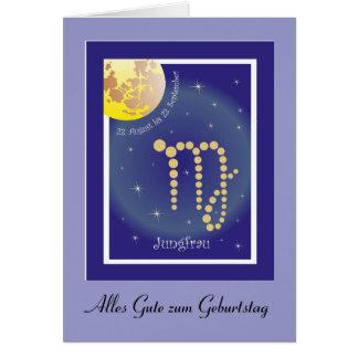 Virgen el 23. agosto hasta el 23. septiembre tarje tarjeta de felicitación