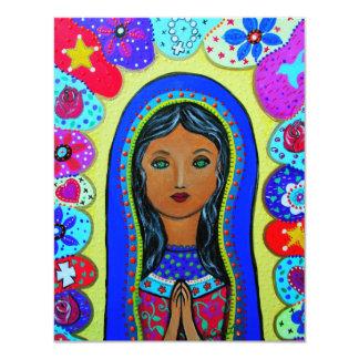 Virgen Guadalupe Invitación 10,8 X 13,9 Cm
