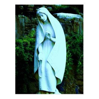Virgen María azul alterado Postales