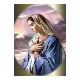 Virgen María bendecido en el desierto Invitación 12,7 X 17,8 Cm