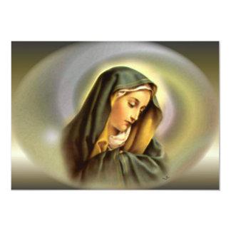 Virgen María bendecido en la gloria de Magnificant Invitación 12,7 X 17,8 Cm