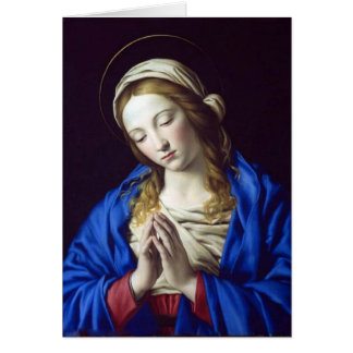 Virgen María en tarjeta del rezo