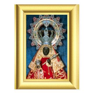 Virgen María negro Postal