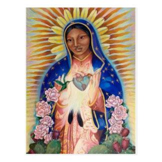 Virgen María - nuestra señora Of Guadalupe Postal