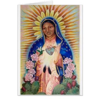 Virgen María - nuestra señora Of Guadalupe Tarjeta De Felicitación