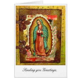 Virgen María Tarjeta De Felicitación