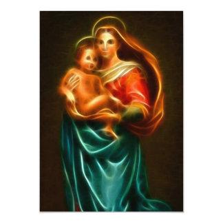 Virgen María y bebé Jesús Invitación 12,7 X 17,8 Cm