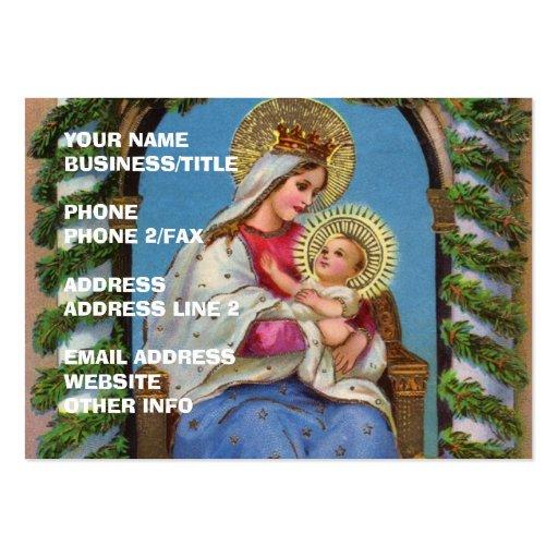 Virgen María y bebé Jesús Plantilla De Tarjeta De Negocio