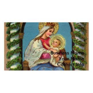 Virgen María y bebé Jesús Plantillas De Tarjetas Personales