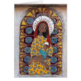 Virgen María y el niño Tarjeta De Felicitación