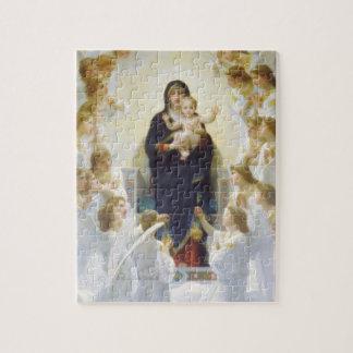 Virgen María y Jesús con ángeles Puzzle