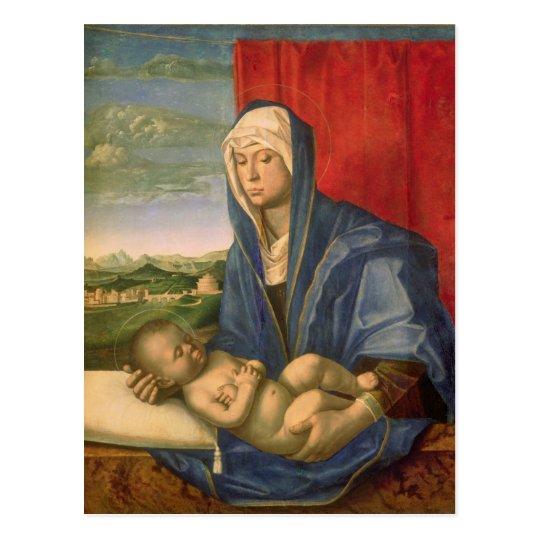 Virgen y niño 3 postal