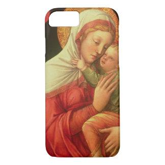 Virgen y niño, c.1465 (aceite en el panel) funda iPhone 7