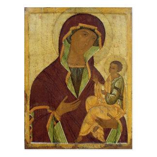 Virgen y niño, c.1500 postal