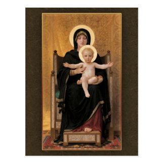 Virgen y niño CC0271 de Bouguereau Postal