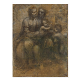 Virgen y niño con St Anne de Leonardo da Vinci Postal