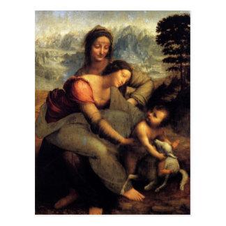 Virgen y niño con St Anne y el cordero Postal