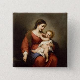 Virgen y niño de Cristo Chapa Cuadrada