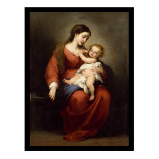 Virgen y niño de Cristo Postal