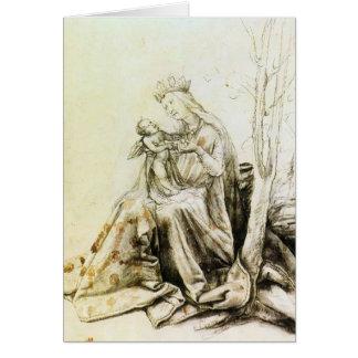 Virgen y niño de Matías Grünewald- Tarjeta De Felicitación