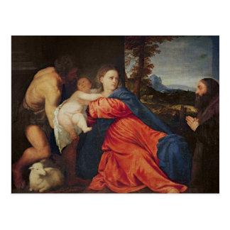 Virgen y niño postal