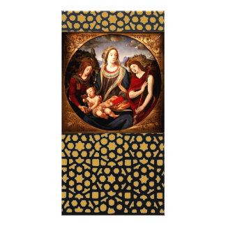 Virgen y niño tarjetas fotográficas personalizadas