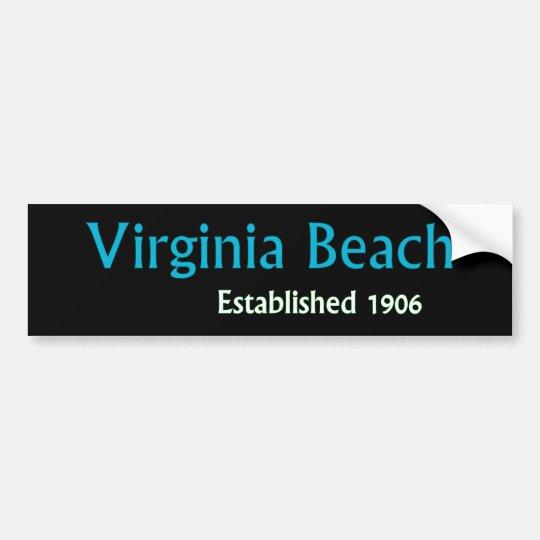Virginia Beach estableció a la pegatina para el