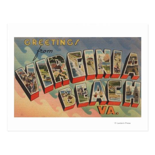 Virginia Beach, Virginia - escenas grandes de la Postal