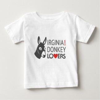 Virginia está para los amantes del burro camiseta de bebé