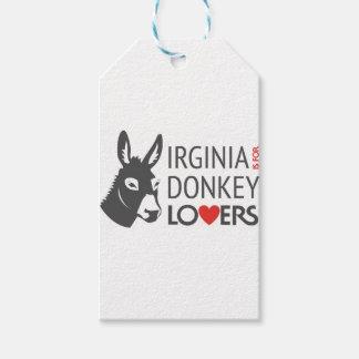 Virginia está para los amantes del burro etiquetas para regalos