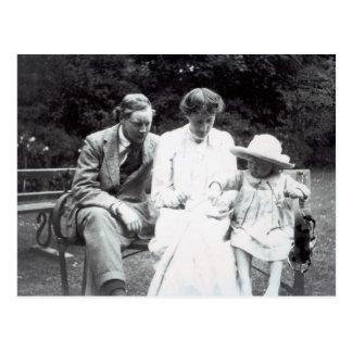 Virginia Woolf con Clive y Bell juliana, 1910 Postal