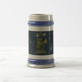 Virgo brillante jarra de cerveza